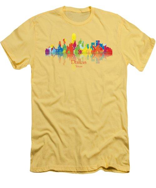 Dallas Texas Tshirts And Accessories Art Men's T-Shirt (Slim Fit) by Loretta Luglio