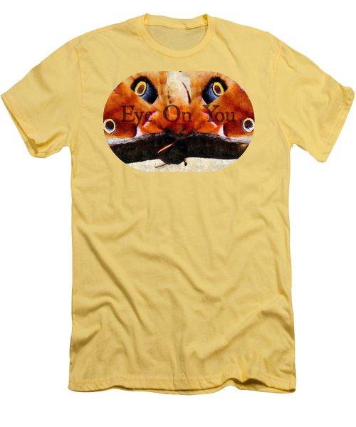 Eye On You - Silk Paint Men's T-Shirt (Slim Fit) by Anita Faye