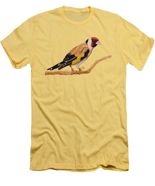 Goldfinch Men's T-Shirt (Slim Fit) by Angeles M Pomata