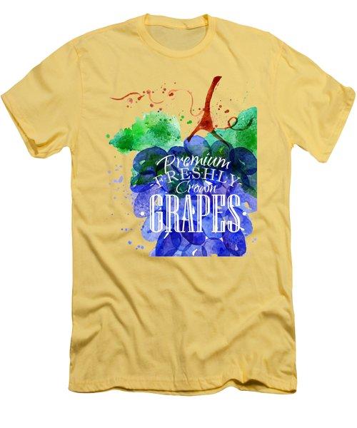 Grapes Men's T-Shirt (Slim Fit) by Aloke Design