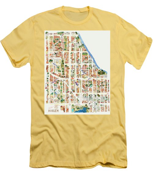 Harlem From 110-155th Streets Men's T-Shirt (Slim Fit) by Afinelyne