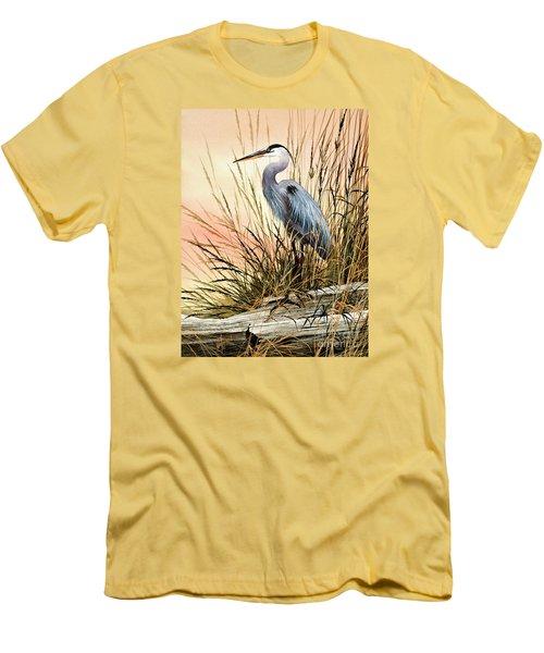 Heron Sunset Men's T-Shirt (Slim Fit) by James Williamson