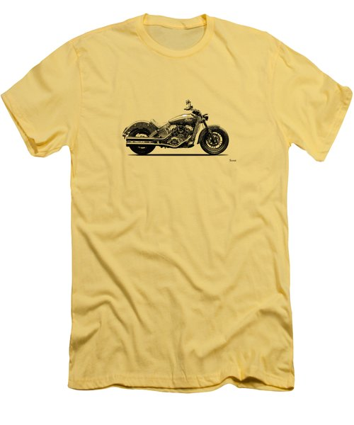 Indian Scout 2015 Men's T-Shirt (Slim Fit) by Mark Rogan
