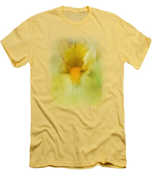 Iris In Lime Men's T-Shirt (Slim Fit) by Jai Johnson