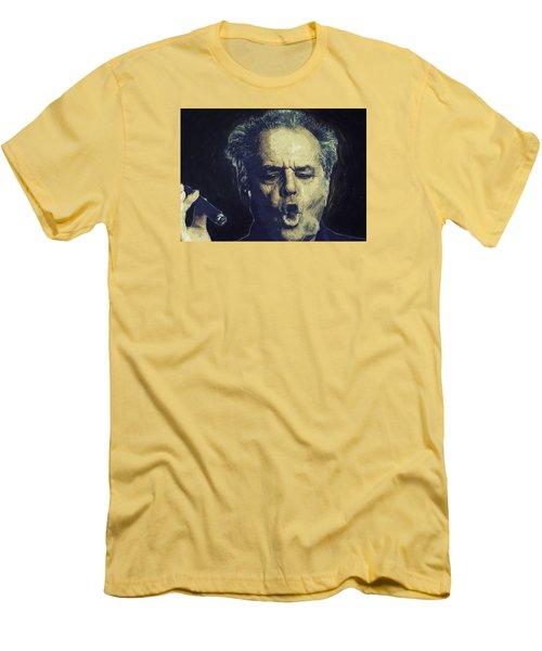 Jack Nicholson 2 Men's T-Shirt (Slim Fit) by Semih Yurdabak
