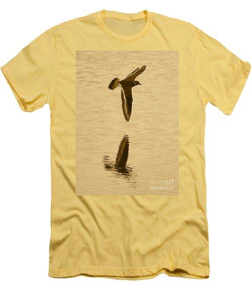 Killdeer Over The Pond Men's T-Shirt (Slim Fit) by Carol Groenen