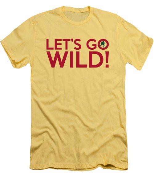 Let's Go Wild Men's T-Shirt (Slim Fit) by Florian Rodarte