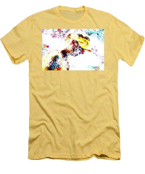 Maria Sharapova Paint Splatter 4p                 Men's T-Shirt (Slim Fit) by Brian Reaves