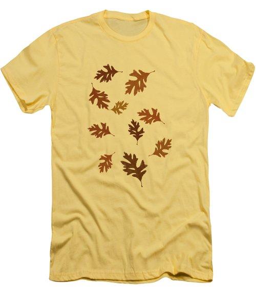 Oak Leaves Art Men's T-Shirt (Slim Fit) by Christina Rollo