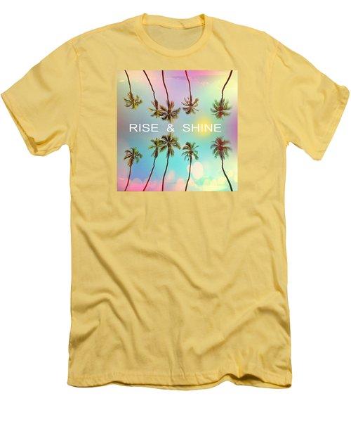 Palm Trees Men's T-Shirt (Slim Fit) by Mark Ashkenazi