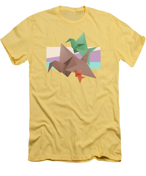 Paper Cranes Men's T-Shirt (Slim Fit) by Absentis Designs