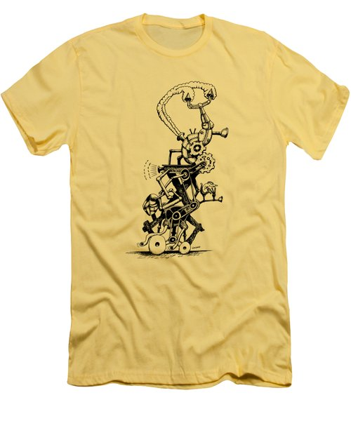 Rat Reverse-cycle Steam Engine Men's T-Shirt (Slim Fit) by Kim Gauge