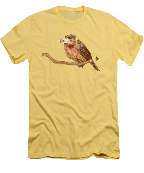 Spot-billed Toucanet Men's T-Shirt (Slim Fit) by Angeles M Pomata