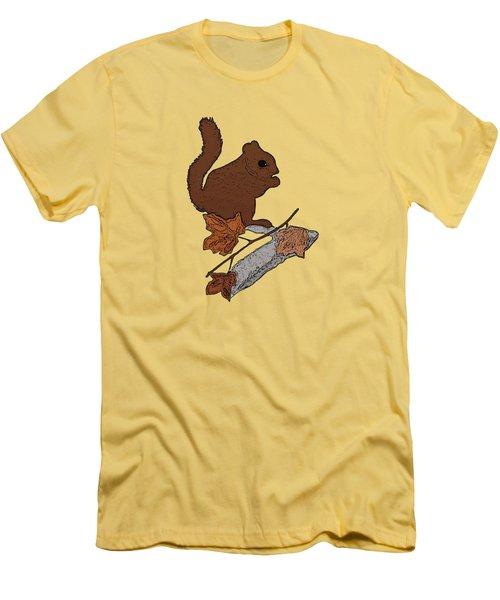 Squirrel Men's T-Shirt (Slim Fit) by Priscilla Wolfe