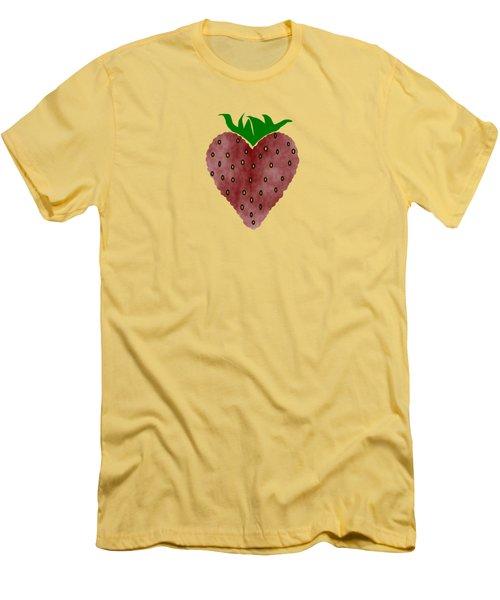 Strawberries Men's T-Shirt (Slim Fit) by Kathleen Sartoris
