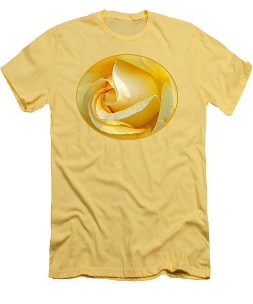 Sunshine Rose Men's T-Shirt (Slim Fit) by Gill Billington