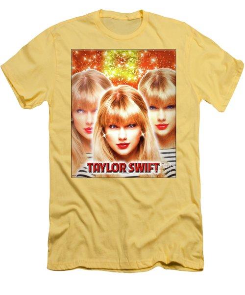 Taylor Swift - Beautiful Vision Men's T-Shirt (Slim Fit) by Robert Radmore