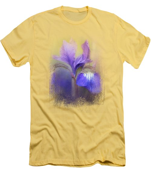 Tiny Iris Men's T-Shirt (Slim Fit) by Jai Johnson