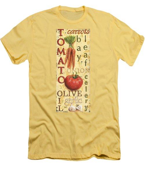 Tomato Soup Men's T-Shirt (Slim Fit) by Debbie DeWitt