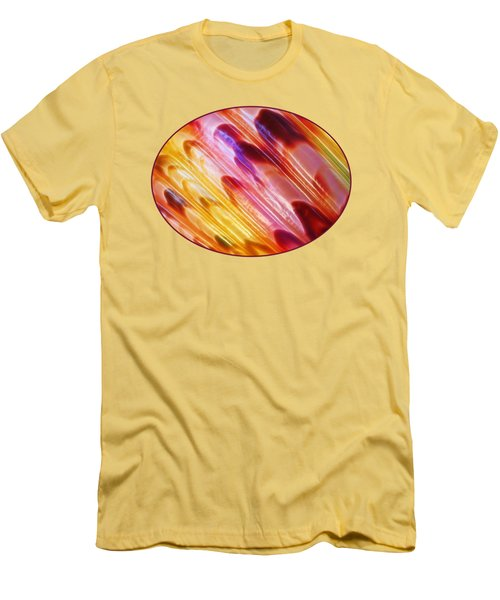 Triton Seashell Multicolor Abstract Men's T-Shirt (Slim Fit) by Gill Billington