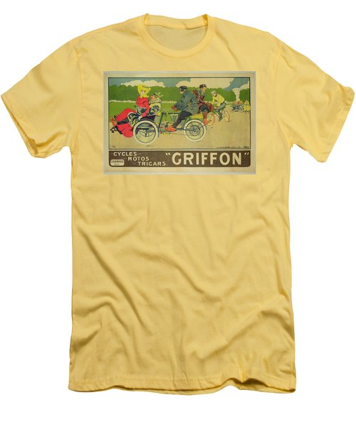 Vintage Poster Bicycle Advertisement Men's T-Shirt (Slim Fit) by Walter Thor