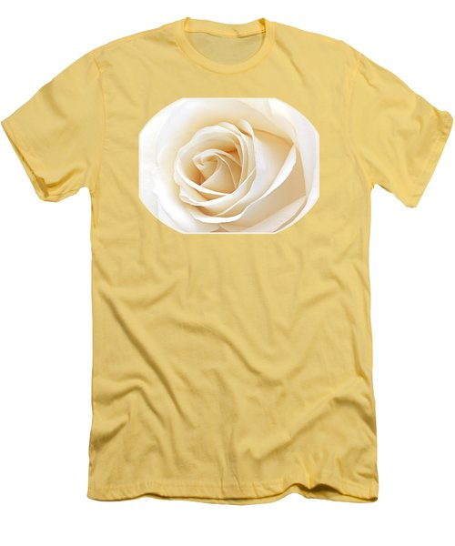 White Rose Heart Men's T-Shirt (Slim Fit) by Gill Billington
