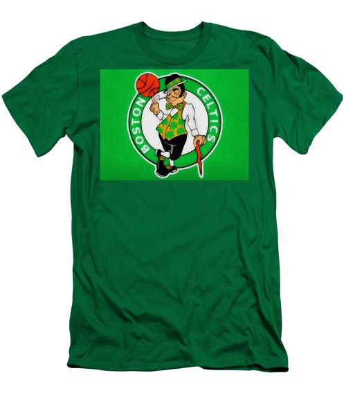 Boston Celtics Canvas Men's T-Shirt (Slim Fit) by Dan Sproul