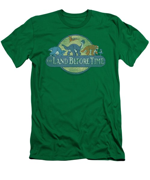 Land Before Time - Retro Logo Men's T-Shirt (Slim Fit) by Brand A