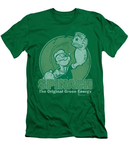 Popeye - Green Energy Men's T-Shirt (Slim Fit) by Brand A