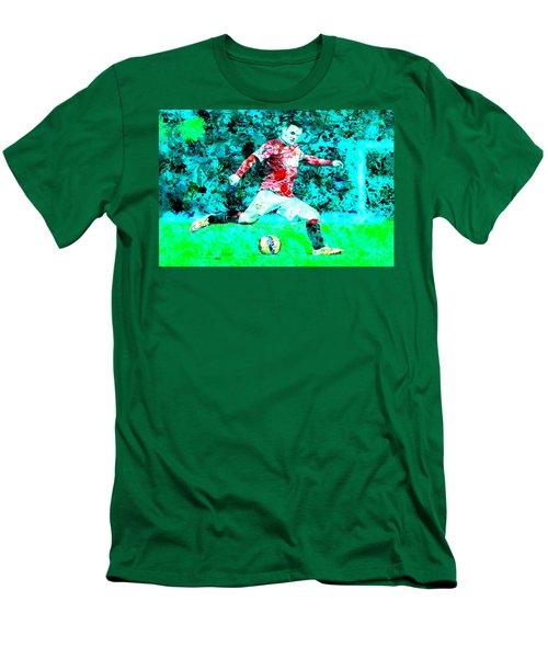 Wayne Rooney Splats Men's T-Shirt (Slim Fit) by Brian Reaves