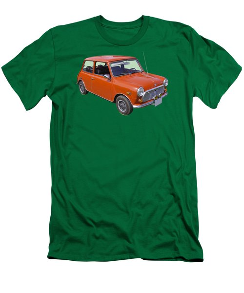 Red Mini Cooper Men's T-Shirt (Slim Fit) by Keith Webber Jr