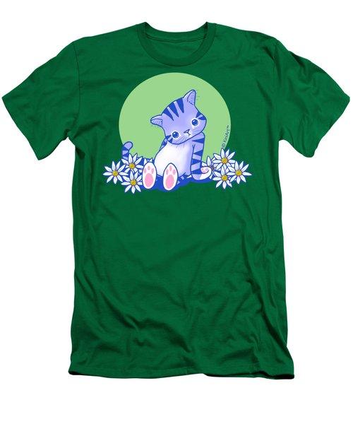 Yittle Kitty Men's T-Shirt (Slim Fit) by Kim Niles
