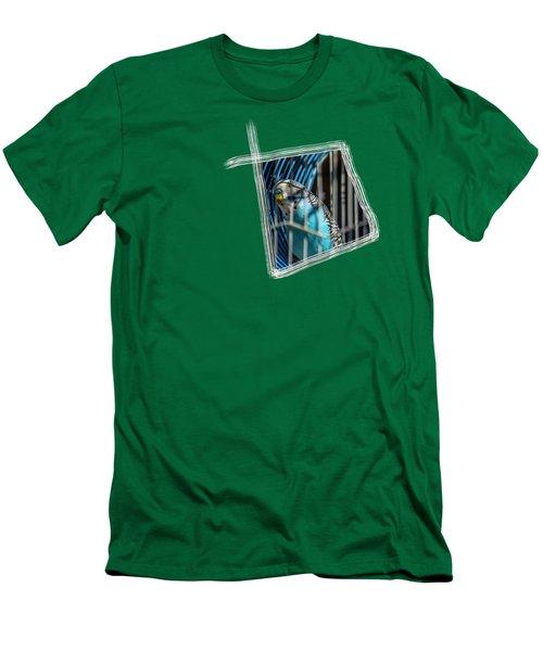 Blue Bird Men's T-Shirt (Slim Fit) by Aissa Belbaz