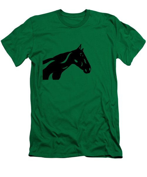 Crimson - Abstract Horse Men's T-Shirt (Slim Fit) by Manuel Sueess