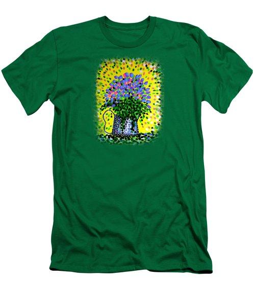 Explosive Flowers Men's T-Shirt (Slim Fit) by Alan Hogan