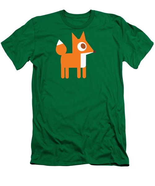 Pbs Kids Fox Men's T-Shirt (Slim Fit) by Pbs Kids