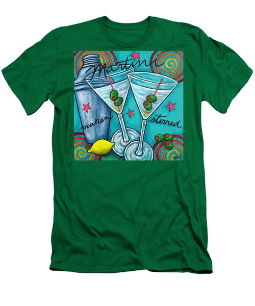 Retro Martini Men's T-Shirt (Slim Fit) by Lisa  Lorenz