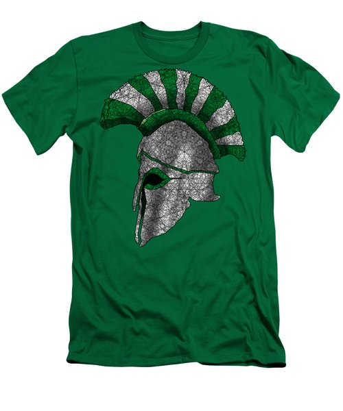 Spartan Helmet Men's T-Shirt (Slim Fit) by Dusty Conley