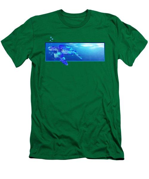 Underwater Sea Turtle Men's T-Shirt (Slim Fit) by Chris MacDonald