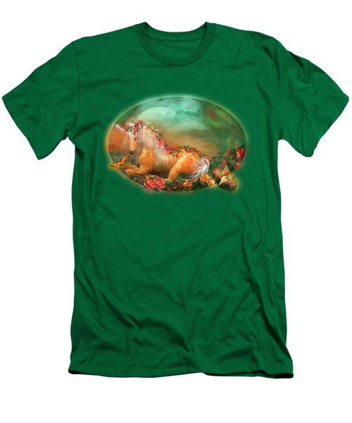 Unicorn Of The Roses Men's T-Shirt (Slim Fit) by Carol Cavalaris