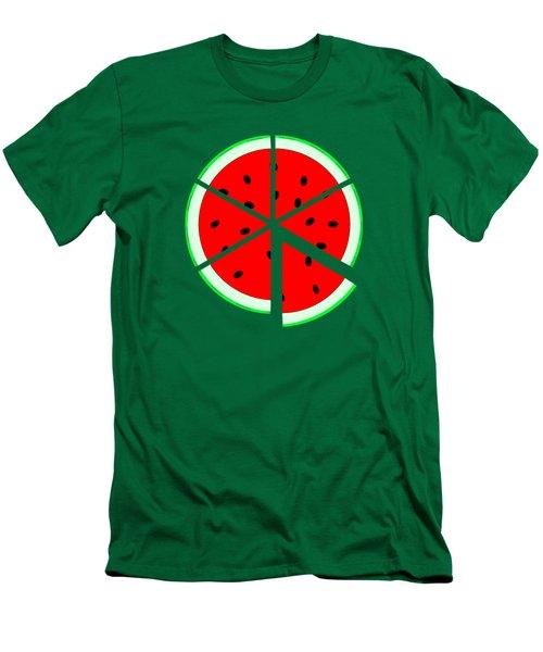 Watermelon Wedge Men's T-Shirt (Slim Fit) by Susan Eileen Evans