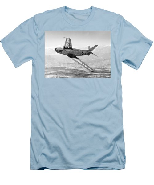 Men's T-Shirt (Slim Fit) featuring the photograph F-86 Sabre, First Swept-wing Fighter by Science Source