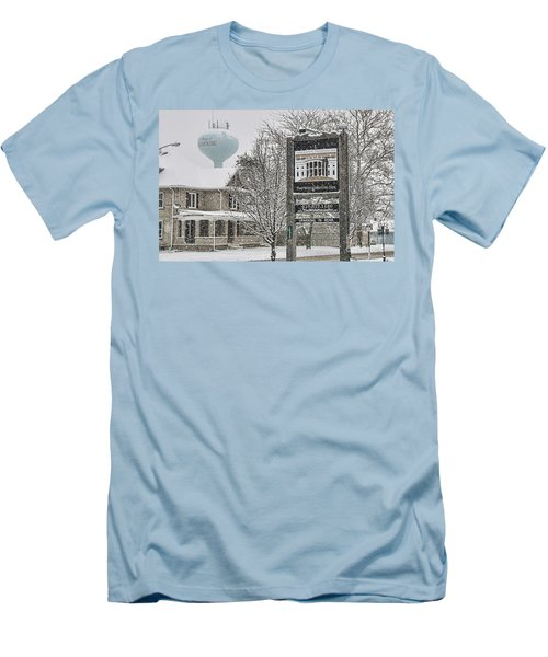 The Whitehouse Inn Sign 7034 Men's T-Shirt (Slim Fit) by Jack Schultz