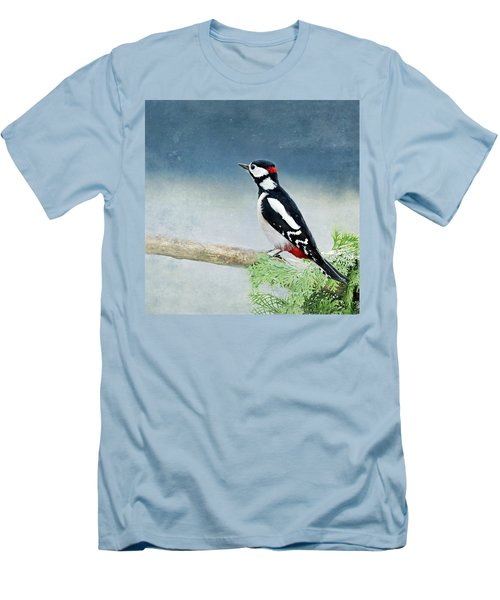 Woodpecker Men's T-Shirt (Slim Fit) by Heike Hultsch