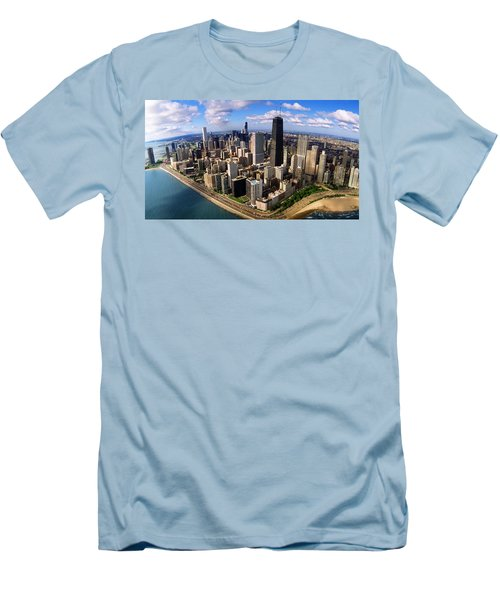 Chicago Il Men's T-Shirt (Slim Fit) by Panoramic Images
