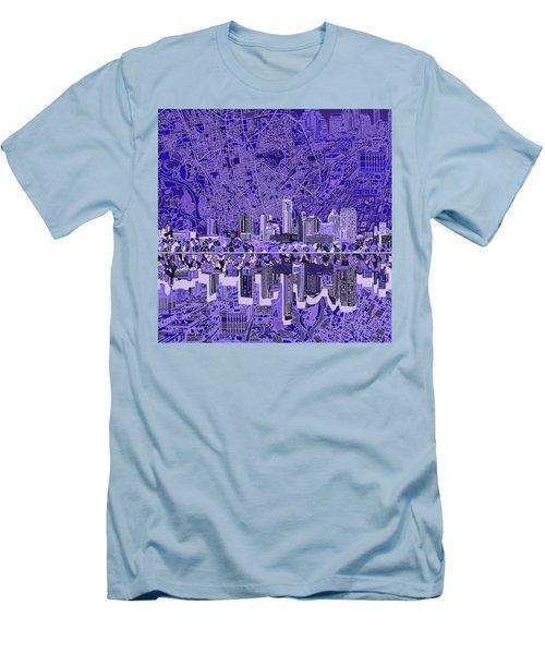 Austin Texas Skyline 4 Men's T-Shirt (Slim Fit) by Bekim Art