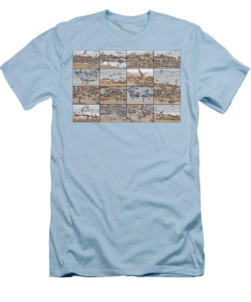 Birds Of Many Feathers Men's T-Shirt (Slim Fit) by Betsy Knapp
