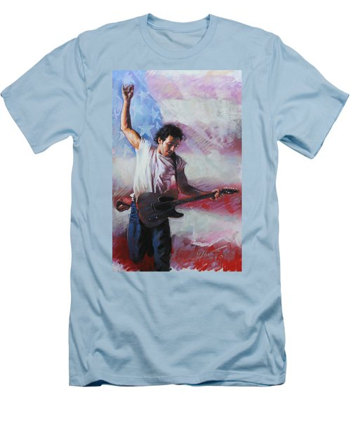 Bruce Springsteen The Boss Men's T-Shirt (Slim Fit) by Viola El