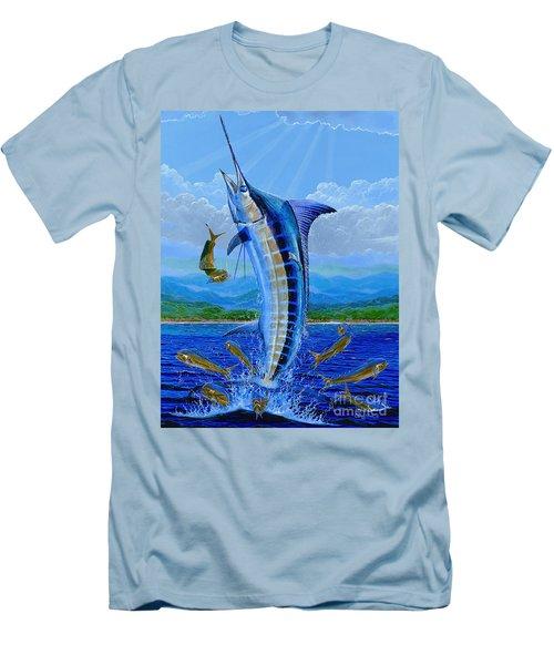 Caribbean Blue Off0041 Men's T-Shirt (Slim Fit) by Carey Chen