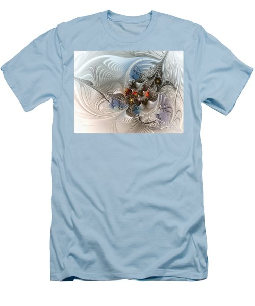 Cloud Cuckoo Land-fractal Art Men's T-Shirt (Slim Fit) by Karin Kuhlmann